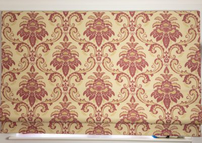 Roman blind with red floral design